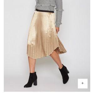 Joie Gold Metallic Skirt